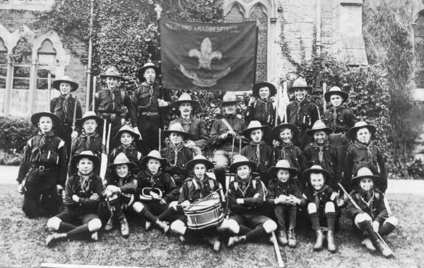 All choristers were members of the church scout group, 1915