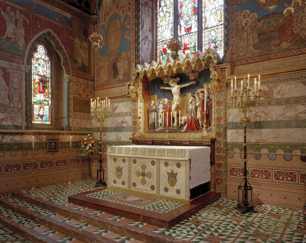 The sanctuary after restoration