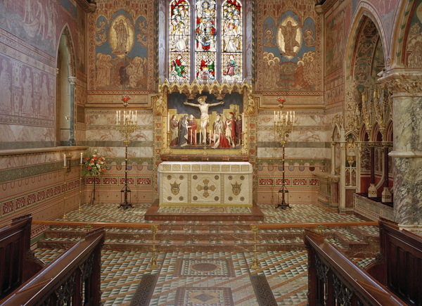 The restored chancel & sanctuary